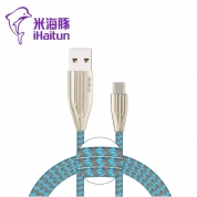 米海豚 X256【安卓线】锌合金尼龙编织线1米