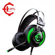 录音师 GS927【绿色-发光-7.1声道】头戴式 电竞游戏耳机 绝地求生吃鸡耳机