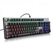 森松尼S-J1 PRO彩虹混光机械键盘 游戏键盘 吃鸡键盘可插拔青轴