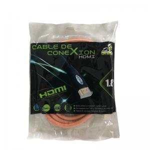 优质好线 HDMI线【1.8米-带包】高清线(黑色.橙色)