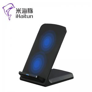 米海豚 QI003 双线圈 无线充电器 横竖可充 底部散热功能
