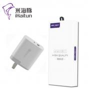 米海豚 Q003【PD充电器18W】闪充充电器 折叠单USB+Type-C