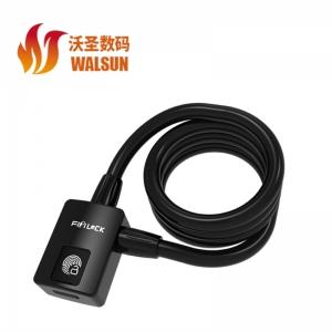 沃圣 FL-U6 蓝牙指纹锁 钢缆锁 锌合金+钢丝 防水等级IP65