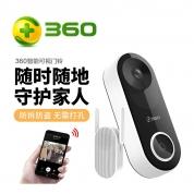 360 无线智能电子门铃 D819 监控家用 猫眼功能
